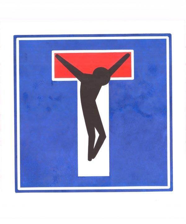 Obra de Clet Cristo crucificado