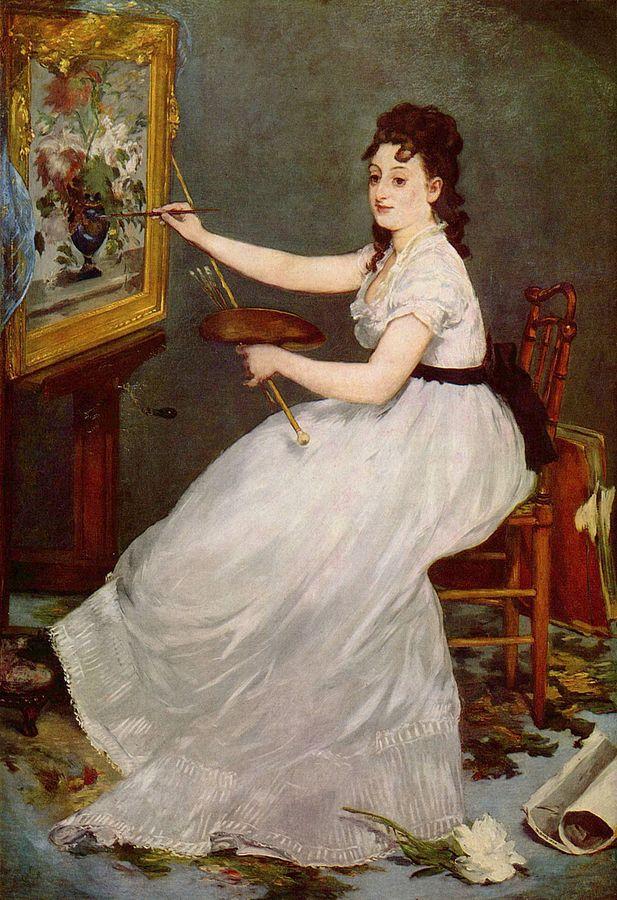 Eva Gonzales pintada por Manet